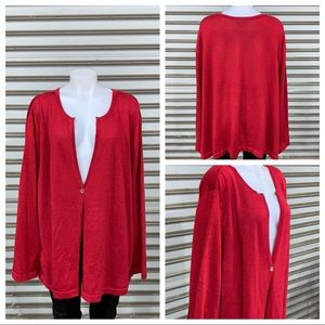 Liz & Me red sweater size 4X